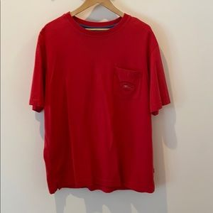 Tommy Bahama faded red tee in EUC!  Sz L